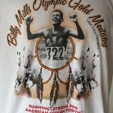 Billy Mills American Indian Olympic Gold Medalist 1964 Tokyo T Shirt Adult Large
