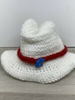 Beautiful  Hand  Made Knit Hat For Dolls See Pictures For Size