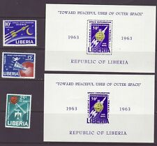 Liberia # 408-09 C151-52 MNH Complete 1963 Space Issue + IMPERF SS