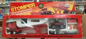 Used 1980s Stomper Jeep Honcho Pull Sled Set 4x4 Monster Truck Toy *see descrip.