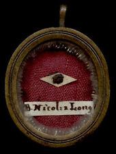 old relic theca  S.NICOLAI A LONGOBARDI  19Th.
