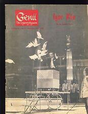 Igor Kio Moscow Genii Conjurors / Magicians Magazine Dec 1967 - contents in scan