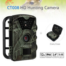 BOBlov 12MP 1080P Game Trail Scouting Hunting Camera Night Vision+ Carry Bag