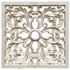 1X Rubber Wood Carved Floral Decal Craft Onlay Applique Furniture DIY Decor L7J1