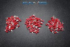150 PK 18-22 GAUGE VINYL SPADE CONNECTORS 50 PCS EACH #6 #8 #10 TERMINAL FORK