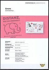 CORONA Marke mit ABHANDLUNG auf WC PAPIER gedruckt Postfrisch ** MNH