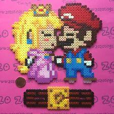 Mario Pixel Wedding Cake Topper