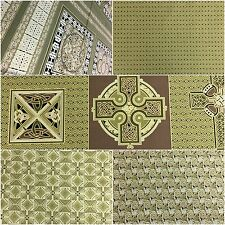 Fabric Freedom 100% Cotton 'Celtic' Gold Craft & Fashion Fabric Material