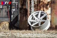 20x10 F1R F35 5x114.3 +38 Machine Silver Wheels (Set of 4)