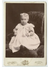 Cab Card Photo Child W/ Locker + Blond Hair From Scottdale, Pa, By Springer