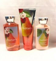 New Bath and Body Works Pearberry Body Cream Shower Gel Lotion 3 Piece Set