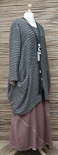 LAGENLOOK OVERSIZE*MB GERMANY*QUIRKY WAFFLE EFFECT TUNIC*GREY*Size 0  S-M