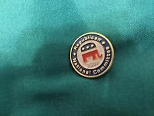 Lapel Pen Republican Nation Committee Logo with Elephant 2008 Gold Tack R/W/B