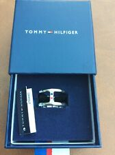 GORGEOUS NEW IN BOX TOMMY HILFIGER SILVER BAND RING SIZE N