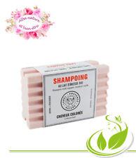 shampooing solide à la kératine et au lait d'anesse bio cheveux colorés et longs