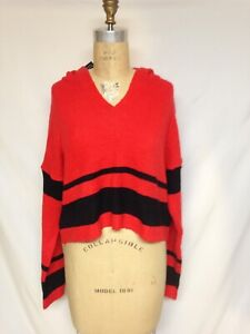 Say What ?  Cropped  hoodie 820979 Red/ Black M,L NWT
