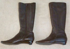 Zip Leather Solid Mid-Calf Boots for Women