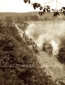 1919 era photo Negative Indian MOTORCYCLE Englewood NJ Military Squad WW1 WWI