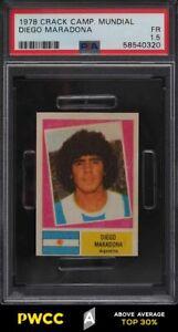 1978 Crack Campeonato Mundial Diego Maradona ROOKIE RC PSA 1.5 PR (PWCC-A)