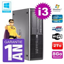PC HP 8200 SFF Intel I3-2120 8gb Disco 2To Grabador Wifi W7