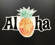 Aloha Sticker - Pineapple Surf Hawaii Tropical Island Surfing Beach Maui Kona