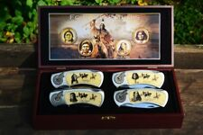 Founding Fathers Collectors Folding Pocket Knife Set - American Indian Chiefs