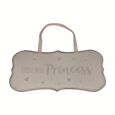 Little Miss Princess All That Glitters Glass Hanging Plaque With Ribbon