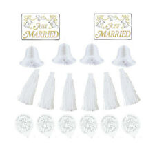 WEDDING AND BRIDAL Just Married CAR DECORATING KIT ~ Party Supplies Cutout