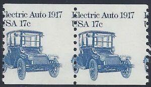 """1906 - 17c Misperf Error / EFO Pair """"Electric Auto"""" Mint NH (stk9)"""