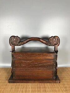 11.2'' China antique Box natural wood Food box RuYi Old Wood storage box