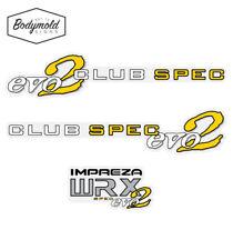 Subaru WRX CLUB SPEC evo 2 Sides and Rear Decal set