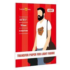Printable Inkjet Iron On Heat Transfer Paper Red Grid Light Fabrics 10 Sheets