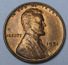 1951 USA - ONE CENT - PENNY - Lincoln Wheat - Nice High Grade