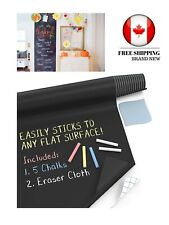 Kassa Large Chalkboard Wall Sticker  5 Chalks Included Chalk Paint Alternative