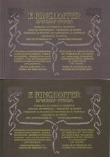 Book - Ringhoffer Catalogues x 2 - Open Closed Goods Wagons Railway Austria CZ