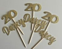 Customised Cupcake toppers glitter cake topper custom personalised PACK OF 6
