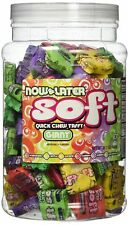 Now and Later Giant Soft Chewy Taffy Candy Assortment Tub (Pack of 120) by No...