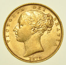 More details for extremely rare 1873/1 victoria shield back sovereign, gold coin [unrecorded]