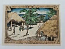 DEUTSCHE KOLONIEN Notgeld Banknote 75 Pfg, 1921 TOGO DORF BEI MISSAHOHE (10685)