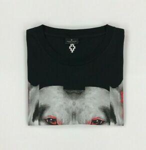 Men's Black Marcelo Burlon T-Shirt XXL 2XL Dog Print Crewneck Short Sleeve A