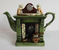 Paul Cardew Design Novelty Collectors Fireplace Woodmanton Titan Flueback Teapot