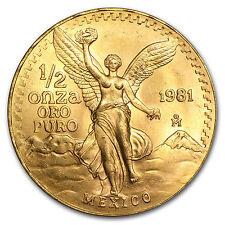 1981 Mexico 1/2 oz Gold Libertad BU - SKU #81612