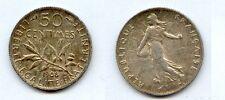 Gertbrolen 50 Centimes argent type Semeuse 1908  Superbe qualité