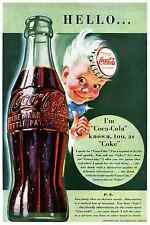COOL 1942 16X24 COKE COCA-COLA POSTER WITH SPARKLE THE REAL THING FINE ART PRINT