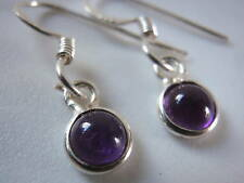Very Tiny AMETHYST 925 Sterling Silver Earrings India Purple