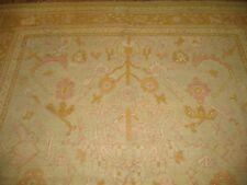 Antique Turkish Oushak Ushak Rug Size 8'1''x11'3''