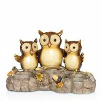NEW~Yankee Candle~GIVE A HOOT OWL TEALIGHT HOLDER~Fall/Autumn Leaves~SOLD OUT