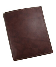 New Buxton Mens Leather Credit Card Folio Wallet, Brown