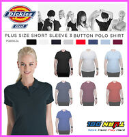 Dickies Womens Plain Polo Shirt, PQ924GL Short Sleeve UNIFORM LPGA Plus 1X - 4X