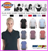 Dickies Womens Plain Polo Shirt, PQ924GL Short Sleeve UNIFORM LPGA Plus 1X - 4X